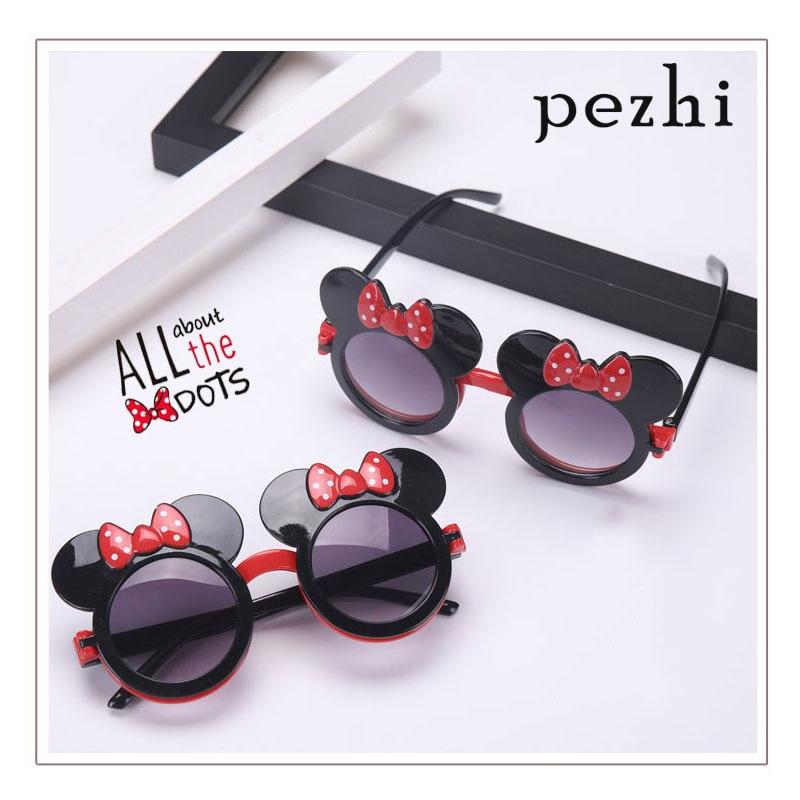 Minnie Sunglasses Flip Cute Sports Outdoor Girl Mickey Sunglasses Mickey Mouse Travel Children Sun Visor