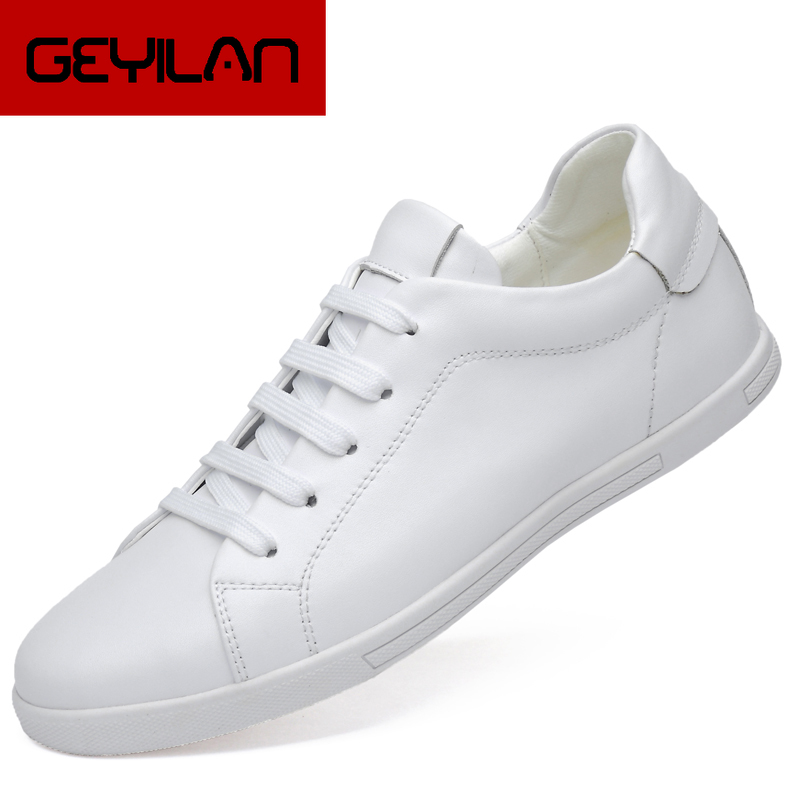 2020 Men's Genuine Leather Shoes 36-46 Head Leather Soft Anti-slip Rubber Sneakers Shoes Man Casual Real Leather Shoes