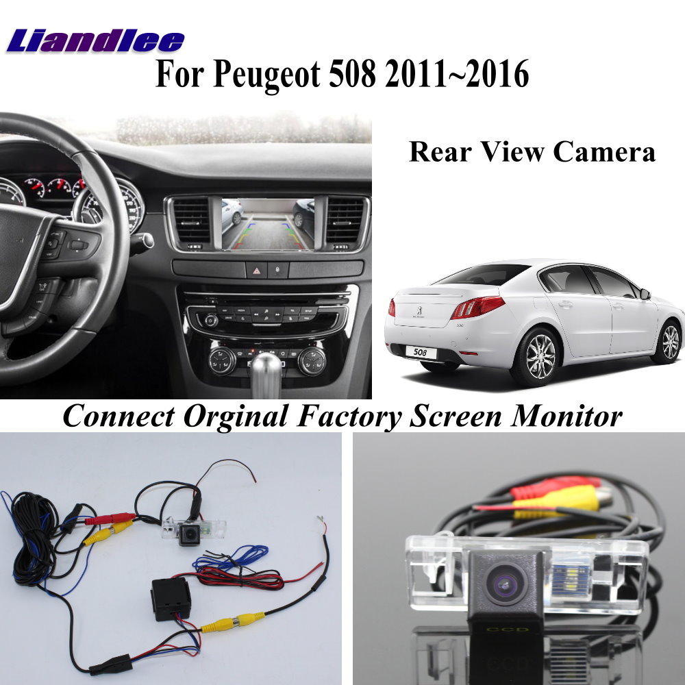 Car Reversing Parking Camera For Peugeot 508 2011-2016 Connector Original Factory RCC NAC MRN Head Unit Rear View Camera