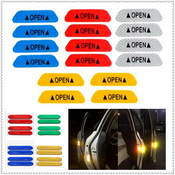 Car Door Open Reflective Tape Warning Mark Night Safety Sticker for Peugeot 206 307 406 407 207 208 308 508 2008 3008 4008 image