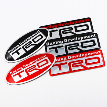 Car Styling 3D Racing Development TRD Sticker Emblem Decal For Toyota Motor sports Car Body Tail Fender Exterior Decoration image