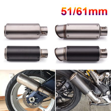 51mm 60mm Motorcycle pipe exhaust with DB killer Exhaust Pipe Muffler For Ducati 400 620 695 696 796 821 797 MONSTER SS 750 800(China)
