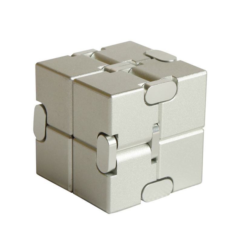 Magic cube puzzle release stress cube aluminum alloy infinite cube decompression artifact creative vibrating toy flip pocket box