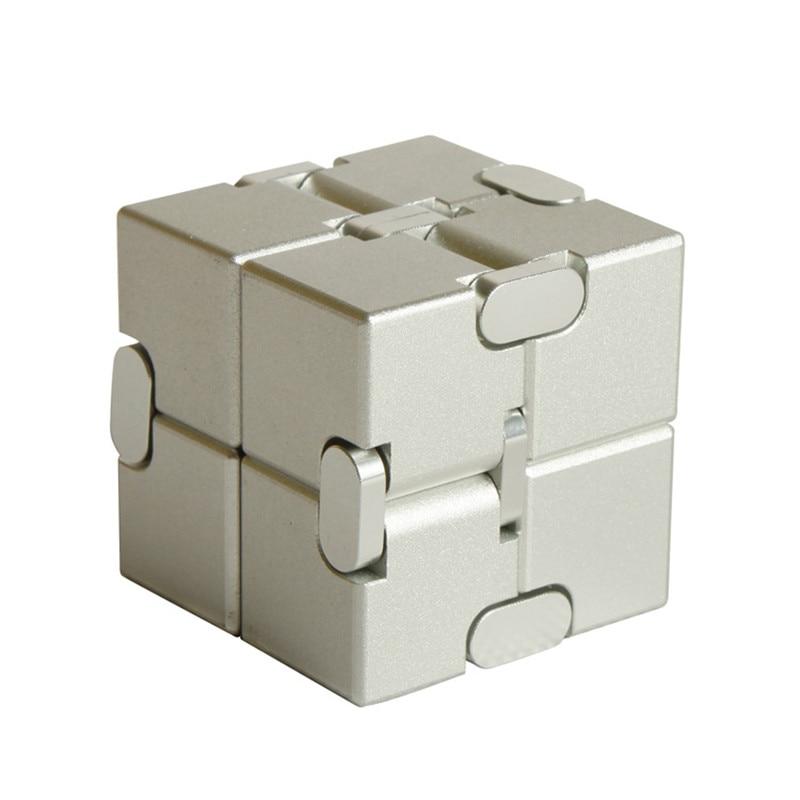 Magic cube puzzle release stress cube aluminum alloy infinite cube decompression artifact creative vibrating toy flip pocket box