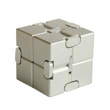 Magic cube puzzle release stress cube aluminum alloy infinite cube decompression artifact creative vibrating toy flip pocket box дети 3d cube игра головоломка twist игрушка партия путешествия ребенка creative decompression magic box головоломка подарок