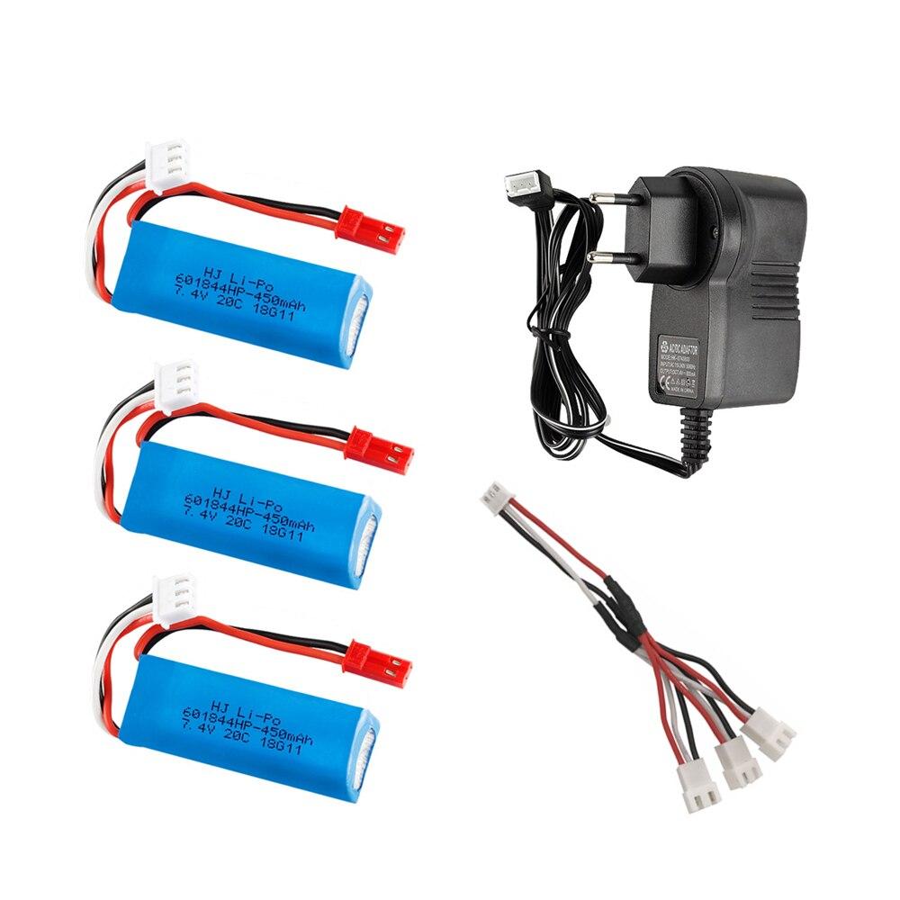 For Wltoys K969 K989 K979 K999 P929 Parts 7.4V 450mAh Battery /& USB Cable