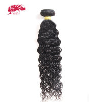 Ali Queen Hair Brazilian Water Wave 1/3/4 Pcs Remy Hair Machine Double Weft 100% Human Hair Weaving Nature Color Free Shipping