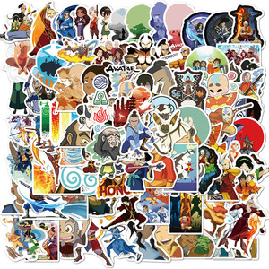 100pcs Avatar The Last Airbender Stickers Anime Cartoon Sticker Funny DIY Luggage Laptop Skateboard Motorcycle Bike Sticker