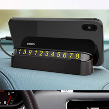 New car phone holder Car Styling Temporary Parking Card Phone Number Plate Park Stop In Car-styling Automobile Accessories