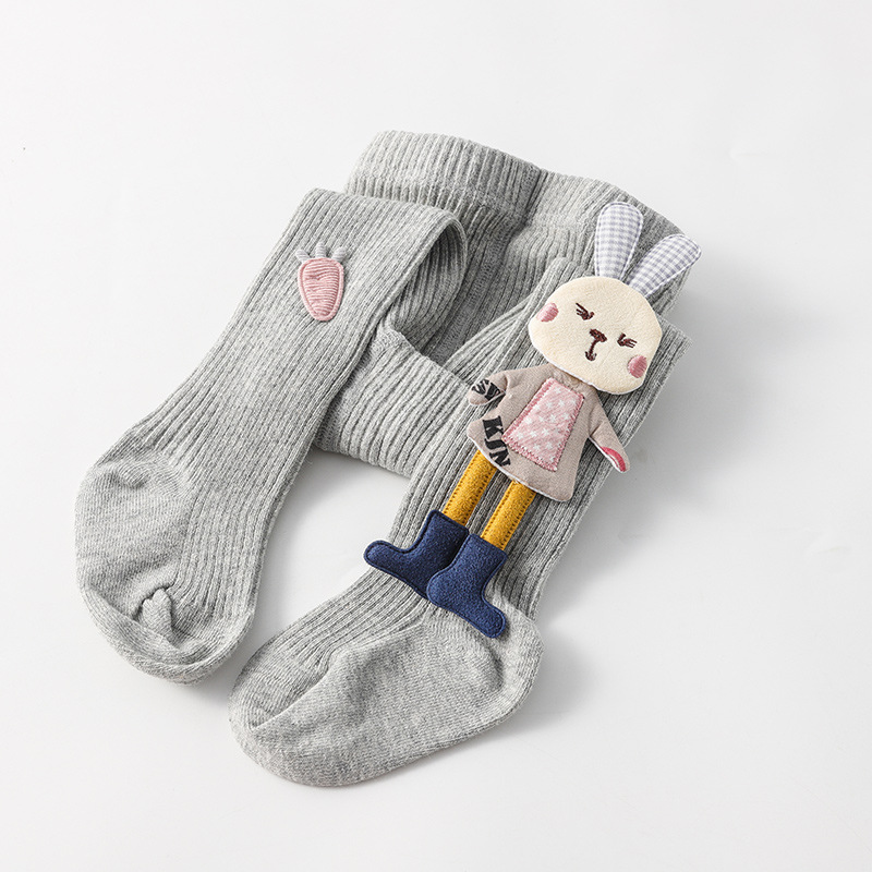 Spring Autumn Kids Knitted Children Pantyhose Cotton Double Needle Tights for Girls Cute Animal Baby Girl Winter Clothes 6