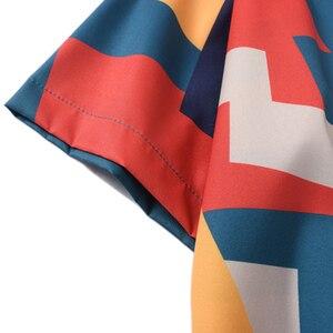 Image 5 - 2020 เสื้อHip Hop Streetwear Mensเสื้อฮาวายบล็อกสีเรขาคณิตHarajukuฤดูร้อนBeachเสื้อฮาวายแขนสั้นบางใหม่