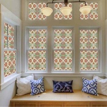 Película de vidrio autoadhesiva electrostática para ventana, pegatina de privacidad de PVC, pegatinas de arcoíris Anti UV para el hogar de la Iglesia, 4 tamaños