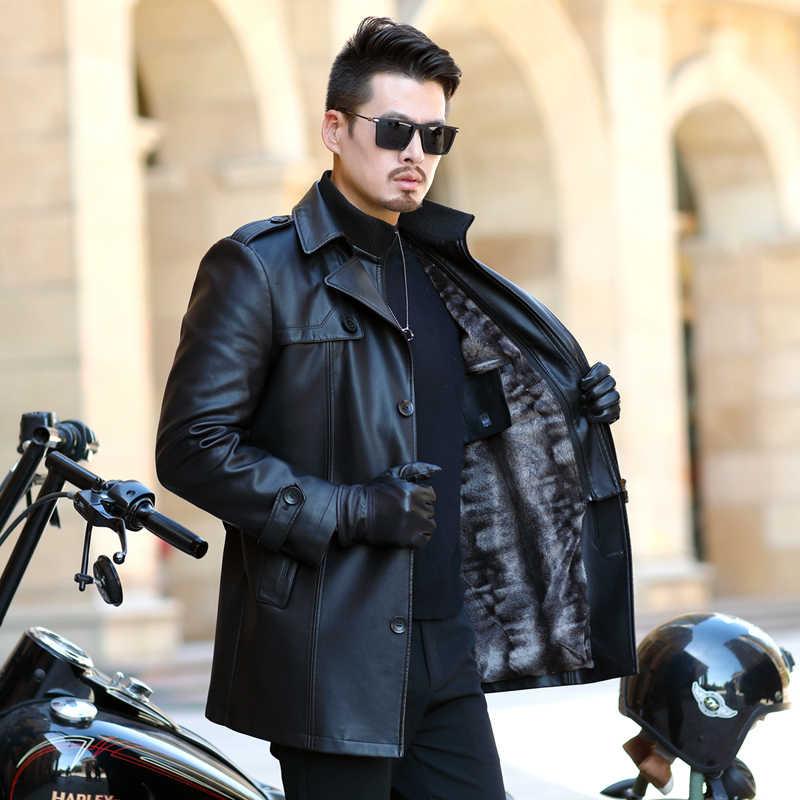 새로운 가짜 모피는 긴 트렌치 코트, 남성 파카, 남성 겨울 코트,