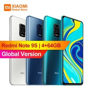"""Image 1 - Xiaomi Redmi Note 9S 4 Гб 64 Гб глобальная Версия Мобильный телефон Snapdragon 720G Восьмиядерный 5020 мАч 48MP Cam Note 9 S смартфон 6,67"""""""