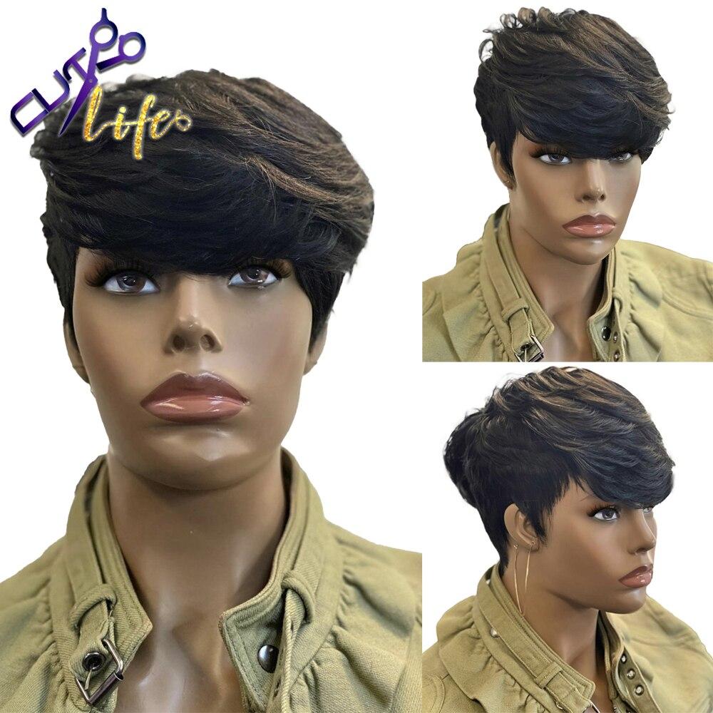 Прямые парики из натуральных человеческих волос, парики бразильские, Remy, оптовая продажа, парики машинной работы