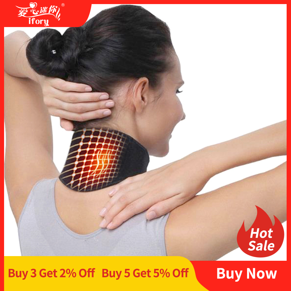 Ifory Health Care Neck Support Massager 1Pcs Tourmaline Self-heating Neck Belt Protection Spontaneous Heating Belt Body Massager title=