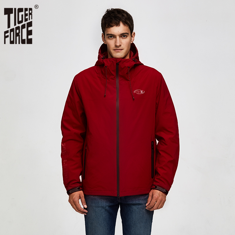 Tiger Force 2019 Cotton Padded Men Spring Jacket Men's Windbreaker Casual Fashion Bomber Jacket  High Quality Man Coat Outerwear