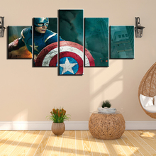 HD Prints 5 Panels Canvas Painting captain america movie Wall Art Picture for Living Room Decor Home Decoration