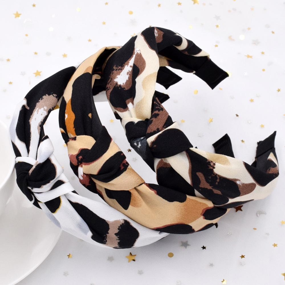Europe Women Leopard Snake Beast Headband Hairbands Elasticity Wide Hair Hoop Accessories Costume No Slip Stay on Head Hair Band
