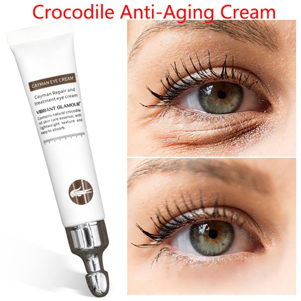 1Pc 2020 Magic Eye Cream Removal Dark Circle Anti-Wrinkle Eye Bags Repair Crocodile Eye Serum Peptide Collagen Serum Eye Care