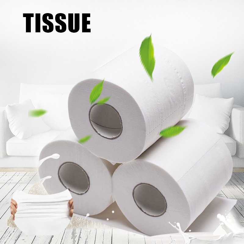 1 Pack Ultra Soft Touching Toilet Paper Tissue Paper Roll For Bathroom Living Room H9