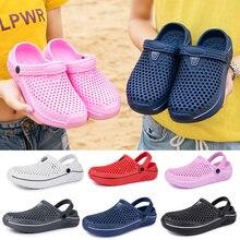 Сандалии для сада и пляжа унисекс дышащие клоги летняя обувь