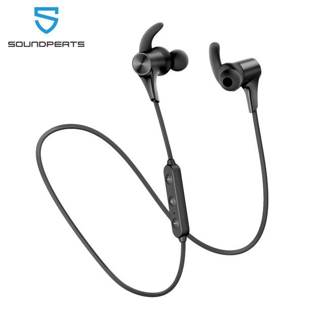 SoundPEATS Bluetooth 5.0 Wireless Earphones IPX6 Magnetic in Ear Wireless Earbuds 14Hours Play time APTX HD CVC Q12 HD