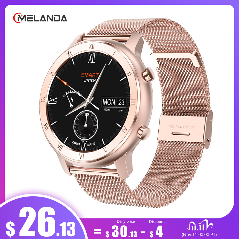 ECG Smart Watch 2020 Full Touch Round Screen IP68 Waterproof Smartwatch Women For Android IOS Phone Men Watch 1