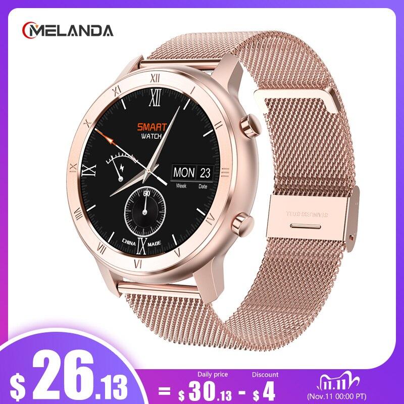 ECG Smart Watch 2020 Full Touch Round Screen IP68 Waterproof Smartwatch Women For Android IOS Phone Men Watch 1