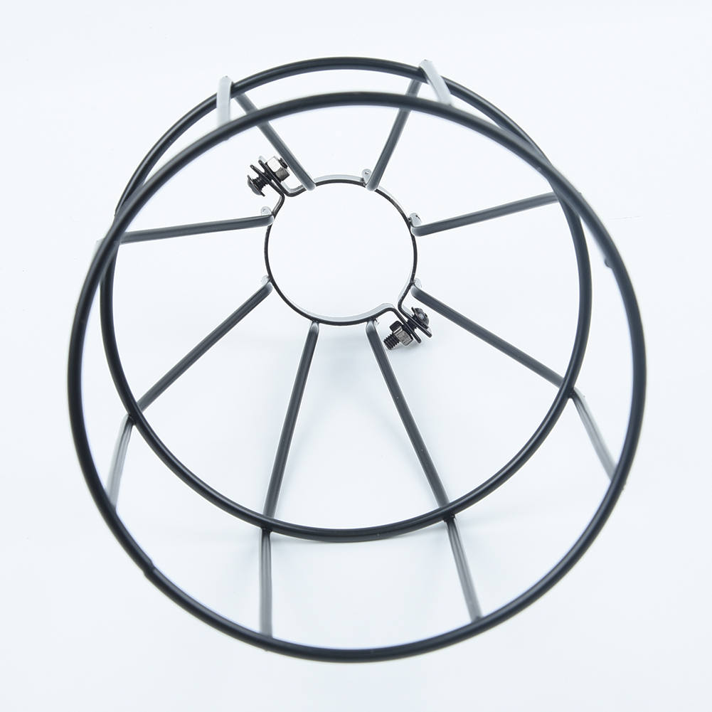 Industrial Iron Wire Bulb Guards Clamp Metal Lamp Cage Retro Trouble Light Parts