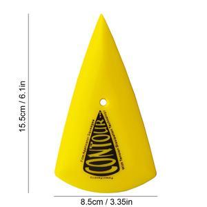 Image 4 - CNGZSY 5 יחידות קונטור פינת מגרד חד משולש רכב מדבקה ויניל מוליך צהוב ללכת פינת מגב חלון גוון כלים 5A13