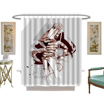 Ducha cortinas con mariposas ilustración de moda diseño gráfico boceto de arte estilo de dibujo de personajes ficticios, W72 x