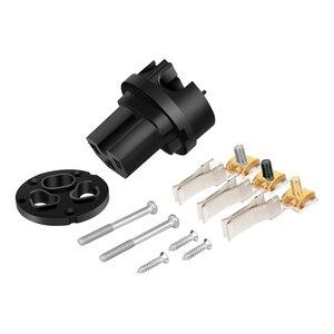 Image 4 - Monosaudio E106R/F106R Pure Copper Rhodium Plated EU Type Power Connector Schuko Power Plug Hifi DIY EU Version Power Plug