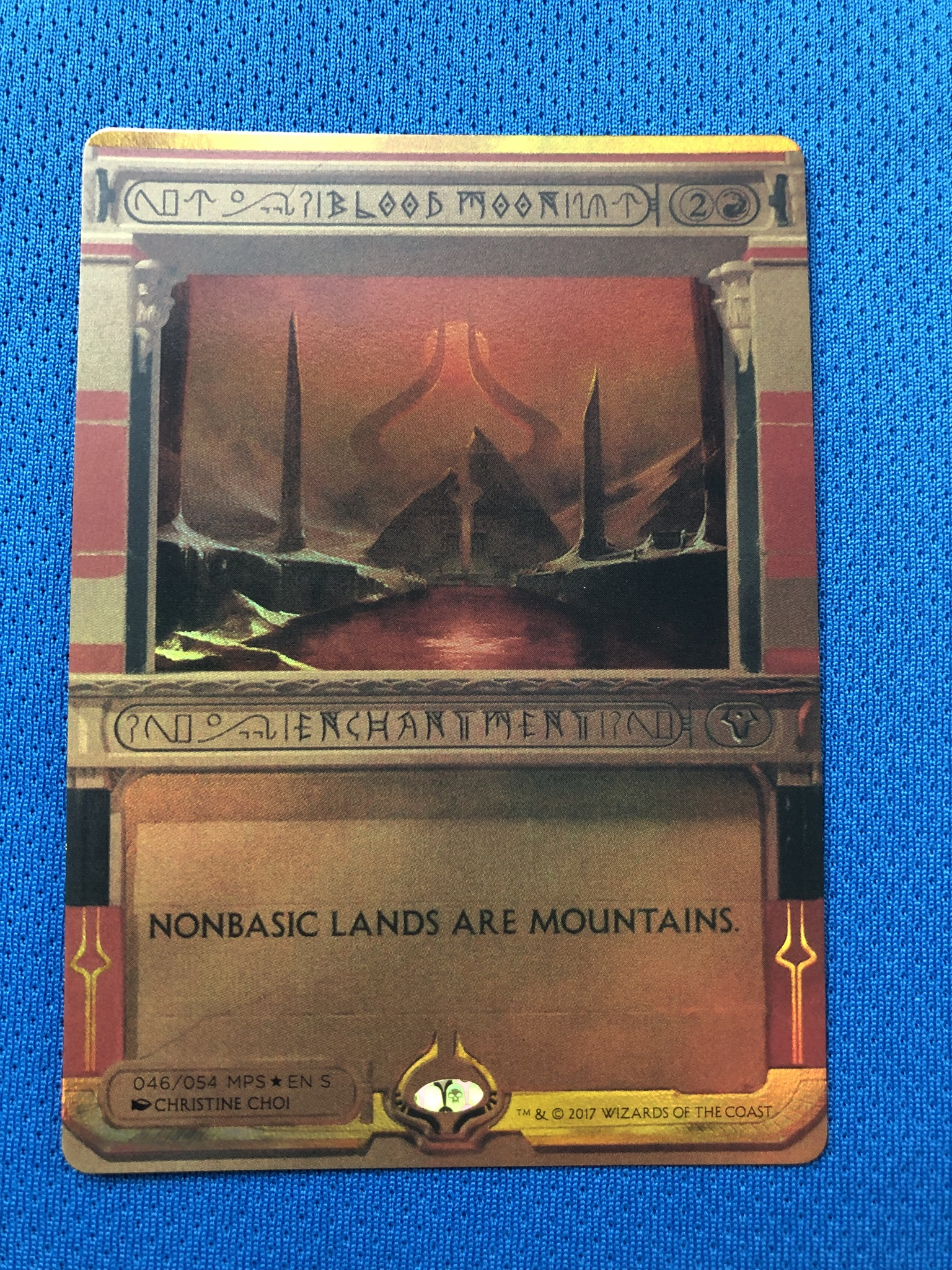 Blood MoonAmonkhet Invocations (MP2) Golden Holofoil Magician ProxyKing 8.0 VIP The Proxy Cards To Gathering Single Mg Card.