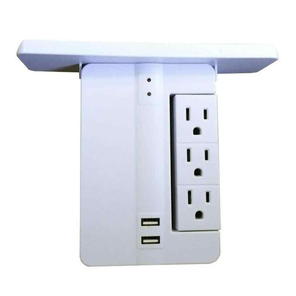 Nhiều Phích Cắm Ổ Cắm-Kệ 8 Cổng Chống Sét Bảo Vệ 6 Ổ Cắm Tường Extenders 2 Cổng USB Xây Dựng Kệ Dễ Dàng lắp Đặt 1028