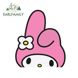 EARLFAMILY 13cm For Peeker Anime My Melody Car Repair Sticker Car Accessories Decal Personality Creative Decals Decoration