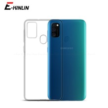 Silikon Ultra İnce Şeffaf Yumuşak Tam Koruyucu Kapak Samsung Galaxy M01 Çekirdek M10 M11 M20 M21 M30 M31 M40 M51 TPU Case Arka