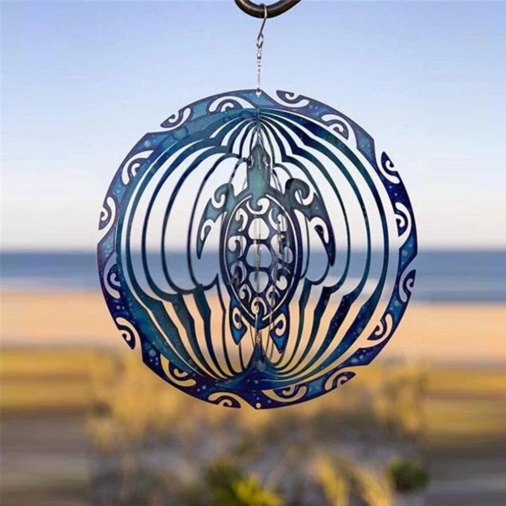 3D морская черепаха ветра счетчик ремесленных вращающийся океан колокольчиков настенный сад балкон, двор Декор украшения родителей подарки