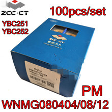 WNMG080404 PM WNMG080408 PM WNMG080412 PM YBC251 YBC252 100 шт./компл. Zcc.ct обработка карбидных вставок: сталь