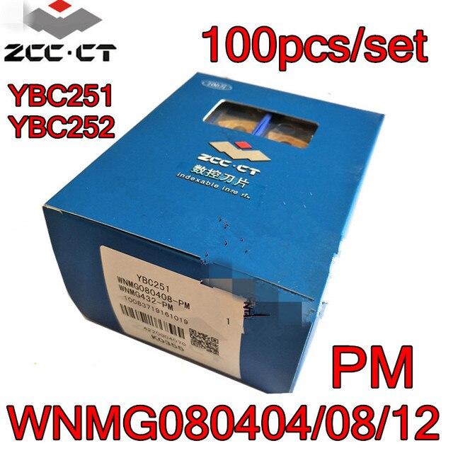 WNMG080404 PM WNMG080408 PM WNMG080412 PM YBC251 YBC252 100 개/대 Zcc.ct 카바이드 인서트 가공: 스틸