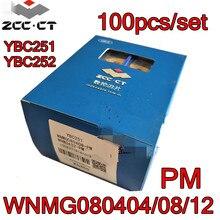WNMG080404 PM WNMG080408 PM WNMG080412 PM YBC251 YBC252 100 adet/takım Zcc.ct karbür insert işleme: çelik