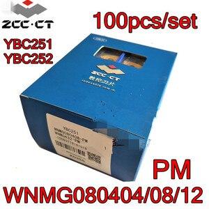 Image 1 - WNMG080404 PM WNMG080408 PM WNMG080412 PM YBC251 YBC252 100pcs/set Zcc.ct Carbide insert Processing: steel