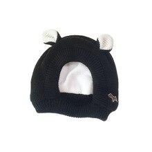 KENSHELLEY New Winter Kids Beanie Cute Bear Ear With Hoody Scarf Custom Embroidery Logo Fleece Lining Knitted Beanie For Kids