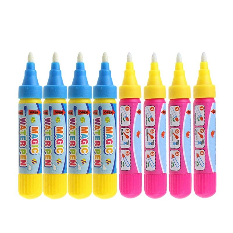 4 шт./компл. волшебное водяное перо доска для рисования игрушка каракули ручка для рисования и письма игровой инструмент обучающая игрушка д...