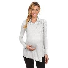 Women Turtleneck Pregnant Nursing Baby For Maternity Multifunctionl Blouse T-Shirt Pregnancy Clothes Woman Tee S-5XL