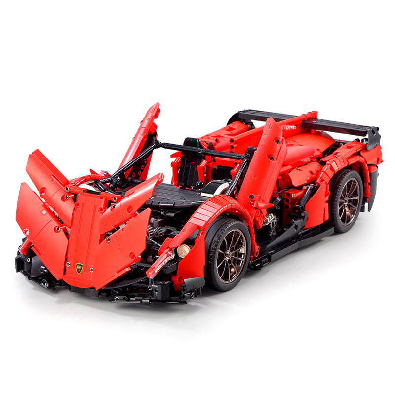 RC Car Veneno Roadster Power Function F1 Model Children Educational Building Blocks Bricks Toys Gifts Compatible lepined Technic image