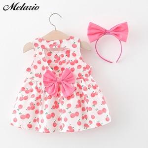Melario Newborn Baby Girl Dress for Girl 1 Year Birthday Dress Fashion Cute Princess Baby Dress Infant Clothing Toddler Dresses(China)