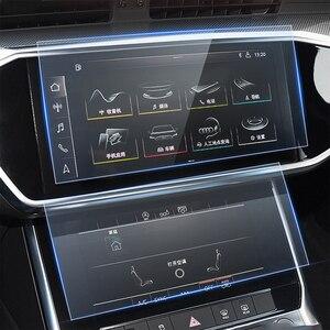 Защитная пленка для Audi Q8 2018-2020, стеклянная пленка для стайлинга автомобиля с GPS-навигацией, пленка для приборной панели, пленка для экрана с и...
