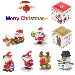 Mini Blocks Christmas Santa Claus Model Micro Bricks Building Block Toy for kids Children Snowman Children's Toy Christmas Gift