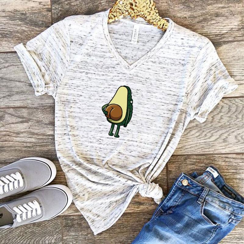 Women Graphic T shirts  Fashion T-shirts 2019 Polyester  Funny Print Avocado frog Tees Short Sleeve Tshirts Girls Gift Tops 3